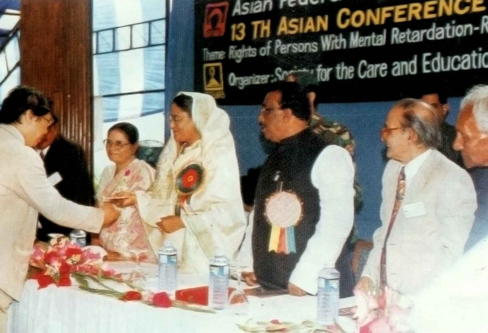 Prime Minister Sheikh Hasina distributing certificate to Foreign delegates