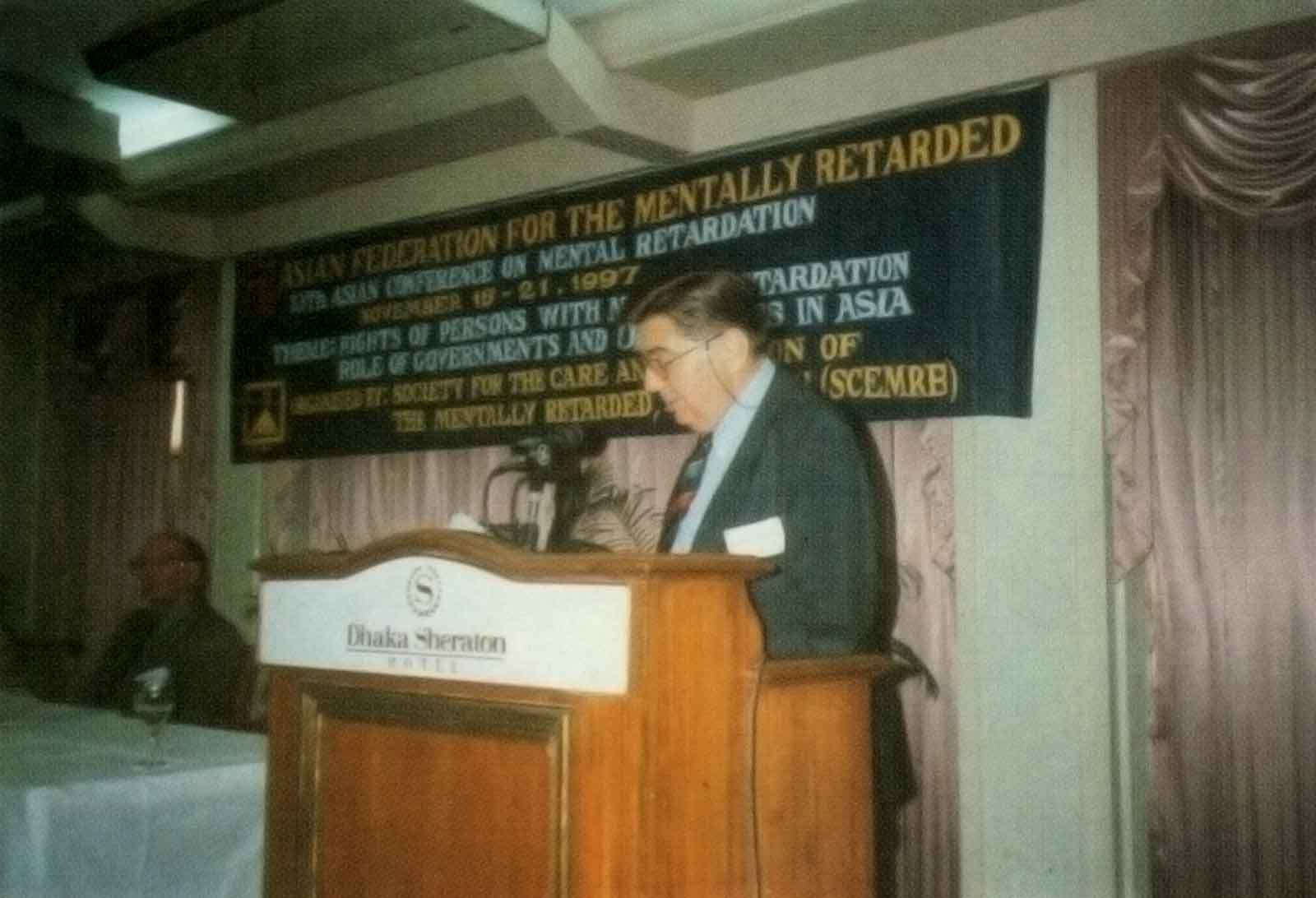 Another honorable speaker at the 13th ACMR Bangladesh, 1997
