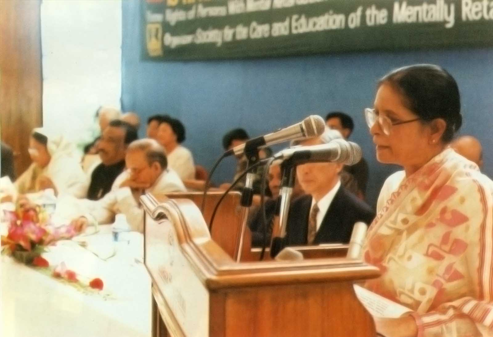 ACMR President speaking at the 13th ACMR Bangladesh, 1997