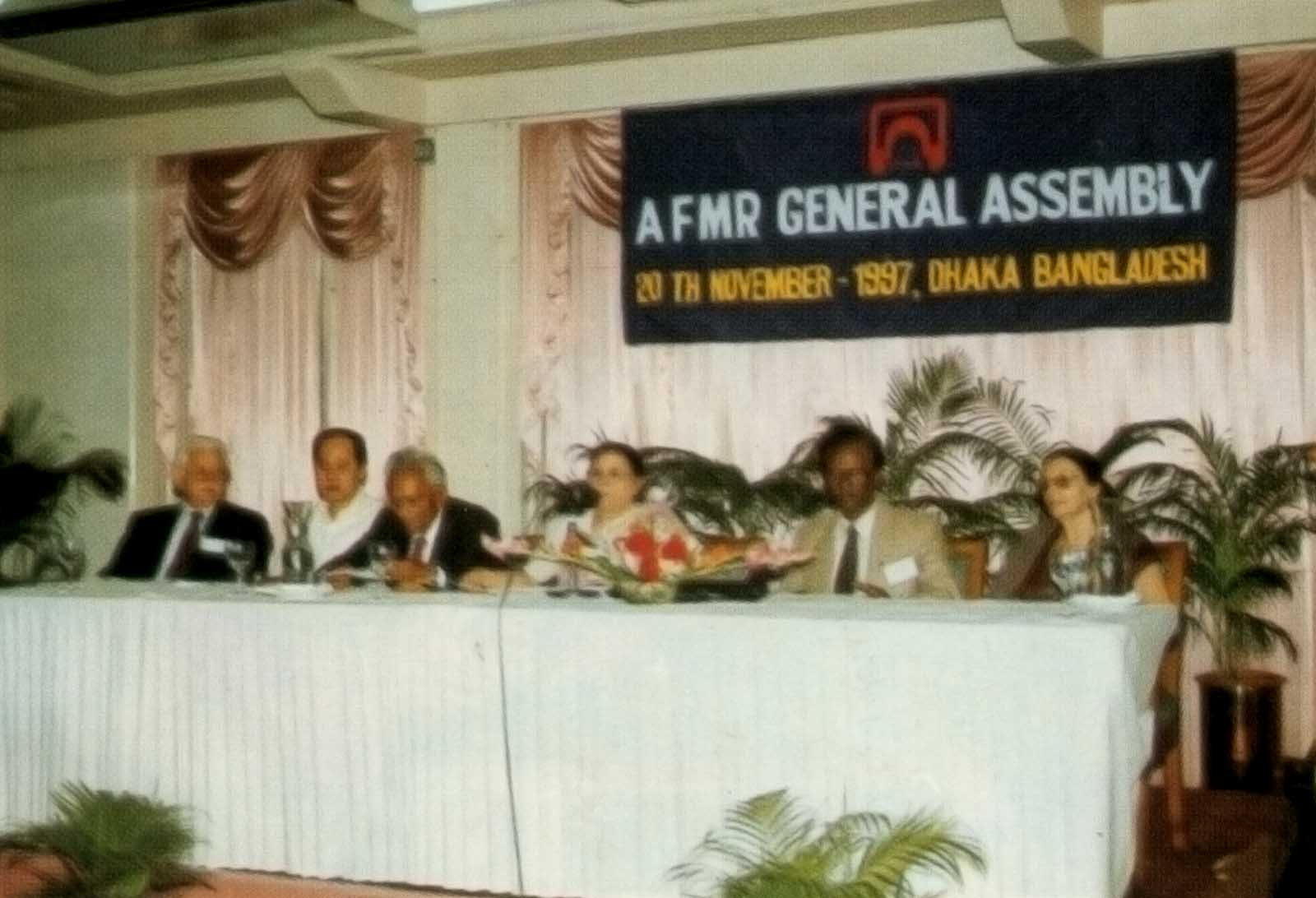 Honorable members at AFMR General Assembly, 1997