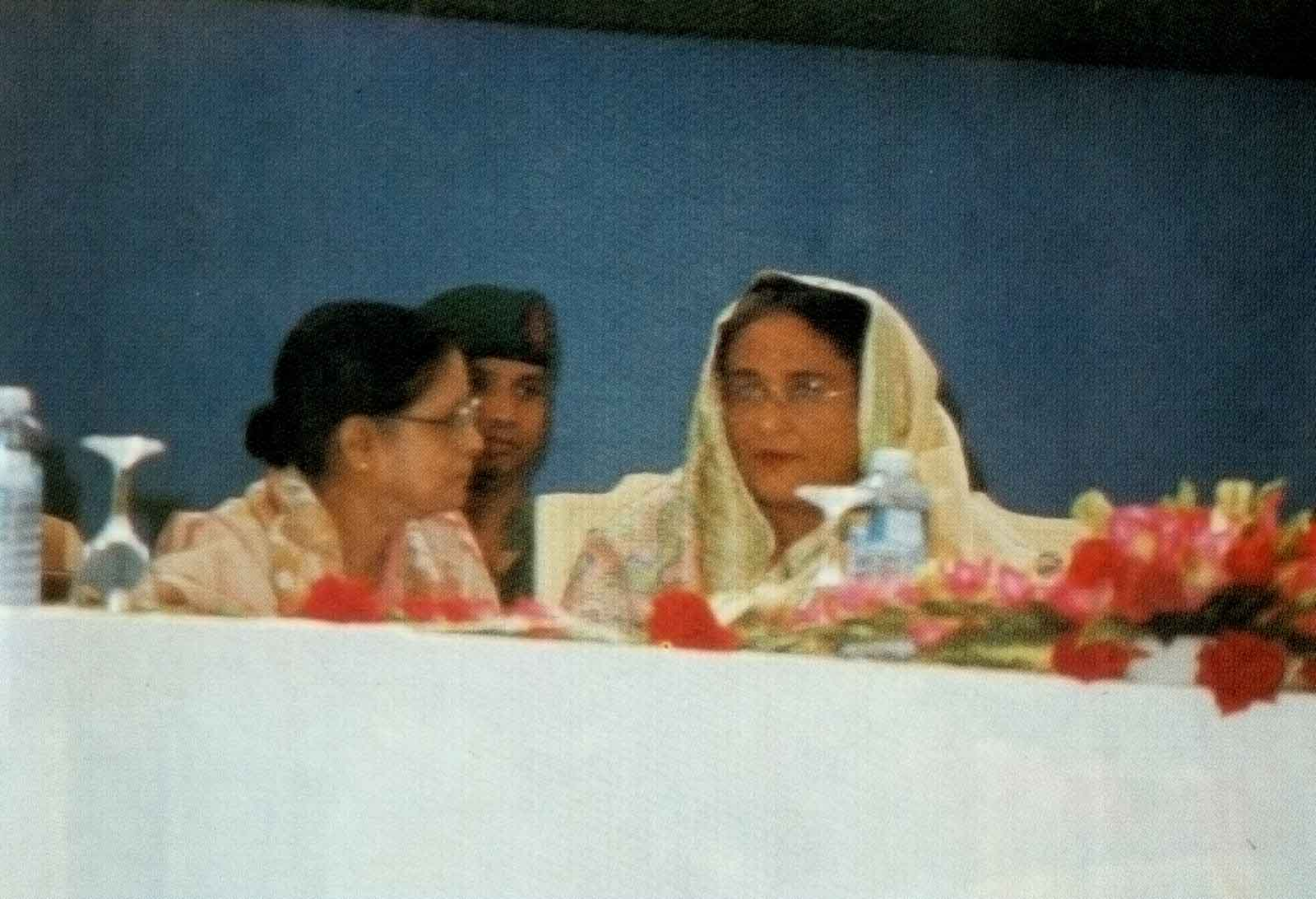Prime Minister Sheikh Hasina, during a conversation at the 13th ACMR Bangladesh, 1997